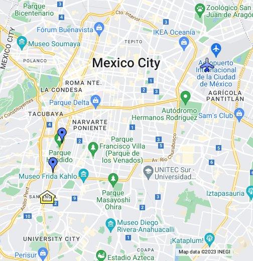 Mexico City Maps Mexico City/Distrito Federal   Google My Maps