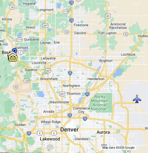 Map Of Boulder Co Boulder, Colorado   Google My Maps