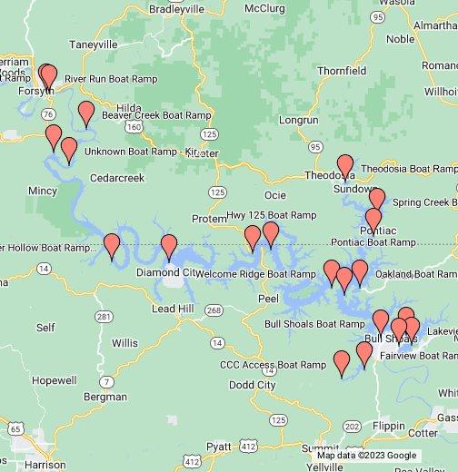 Bull Shoals Lake Boat Ramps - Google My Maps