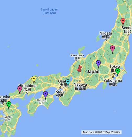 Human Impact On The Environment In Japan - Japan map data