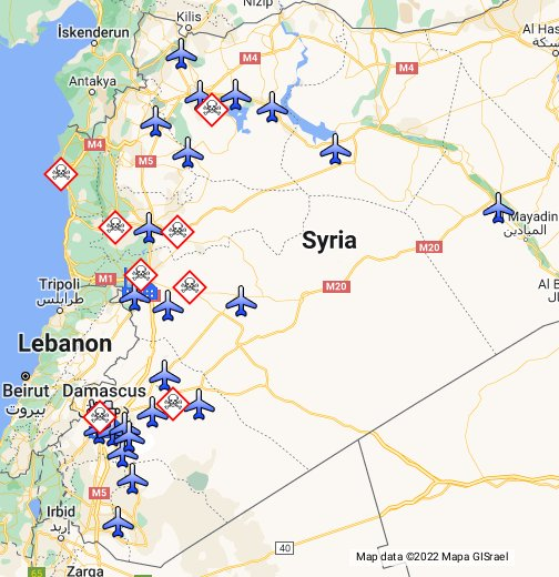 Syrian chemical sites and air bases - Google My Maps