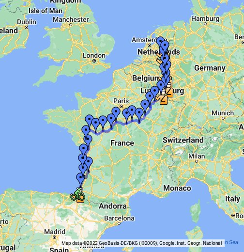 Netherlands Germany Belgium Luxembourg and France tourtk – Map of France and Belgium