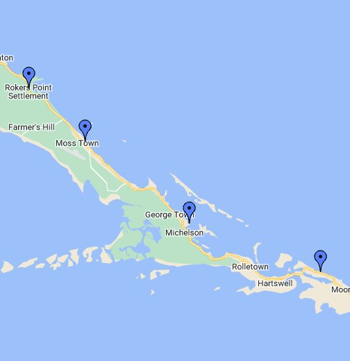 george town bahamas map Exuma Bahamas Google My Maps george town bahamas map