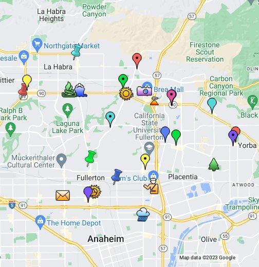 Brea CA - Where is brea california on the california map
