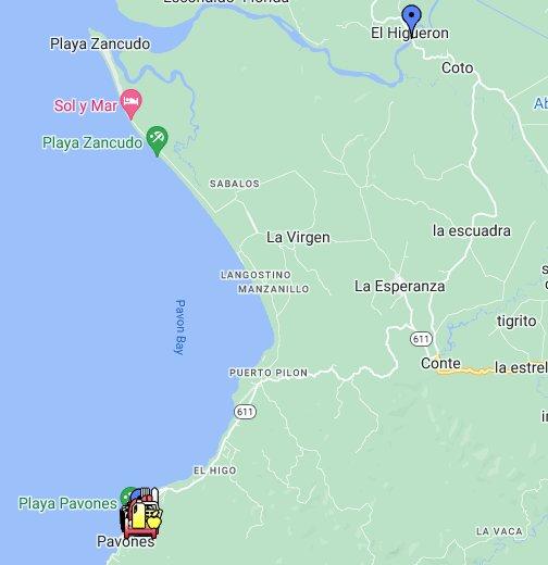 Pavones, Costa Rica - Google My Maps
