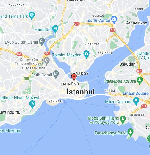 istanbul karta Egyptian Bazaar, Istanbul   Google My Maps istanbul karta