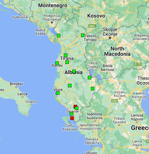 Cartina Italia Google Maps.Albania Google My Maps