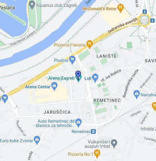 Zagreb Arena Arena Zagreb Google My Maps