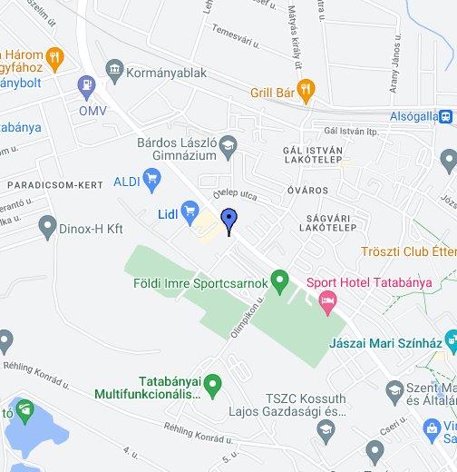 google térkép tatabánya Cseri Lakópark   Tatabánya, Ságvári E. u. 35. – Google Saját térképek