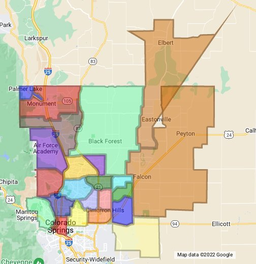 Colorado Springs Zip Code Map   Google My Maps