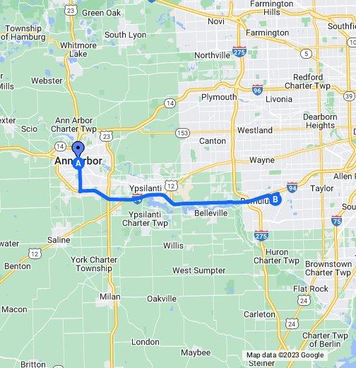 Ann Arbor To Detroit Metro Airport - Ann arbor map