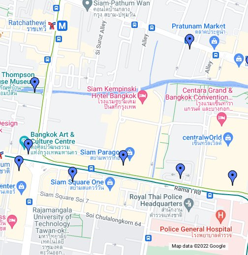 Tour of Siam and Pratunam, Bangkok, Thailand - Google My Maps