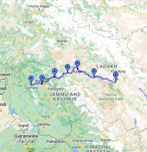 Kashmir, Ladakh - Google My Maps