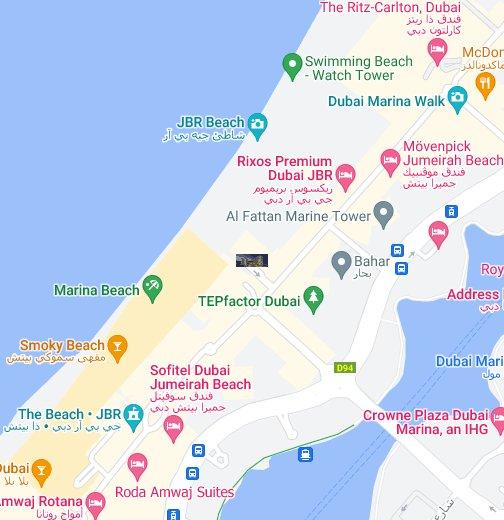Jbr Dubai Map Habtoor Grand Resort & Spa Dubai UAE   Google My Maps