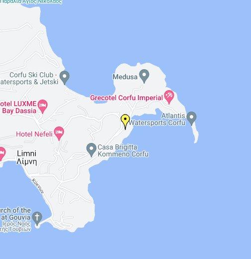 krf mapa google Corfu Kommeno Bay   Google My Maps krf mapa google