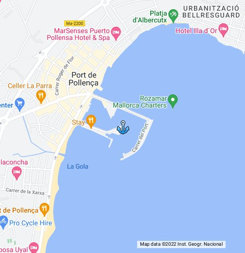 map of puerto pollensa in mallorca. Black Bedroom Furniture Sets. Home Design Ideas