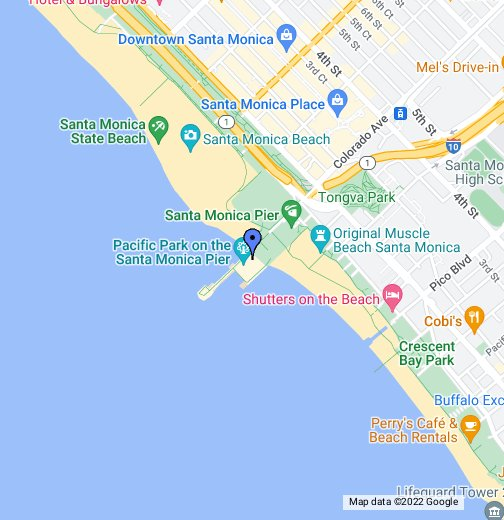Map Santa Monica Santa Monica Pier   Google My Maps Map Santa Monica