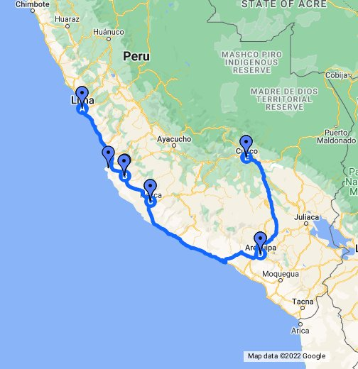 Where Is Lima Peru On The Map Peru   Google My Maps