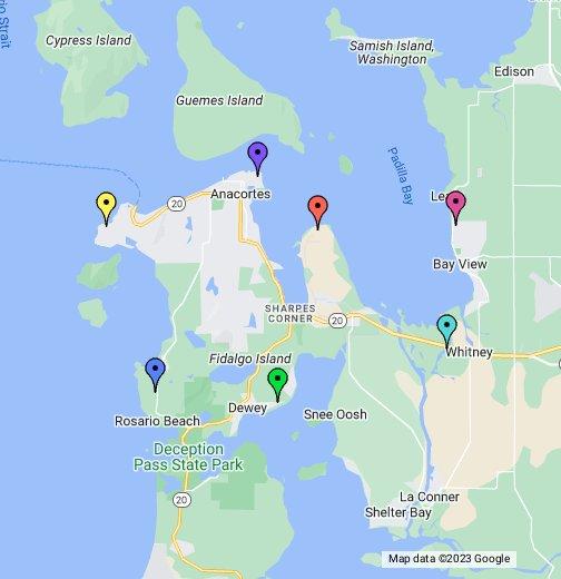 Map Of Fidalgo Island Washington