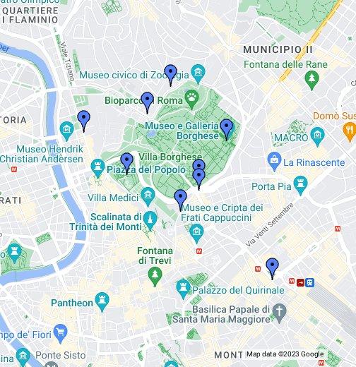 Piazza Spagna Map rome   explore   Villa Borghese   Google My Maps