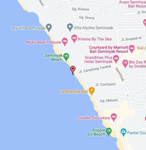 Bali Karte Canggu.Seminyak Beach Google My Maps