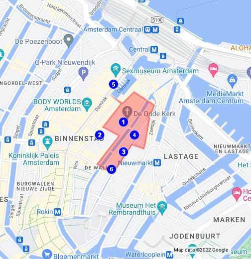 Map of Amsterdam Red Light District - Google My Maps