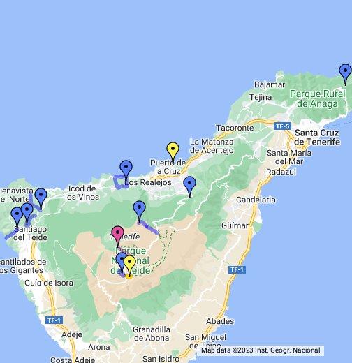 Teneriffa Karte.Teneriffa Google My Maps