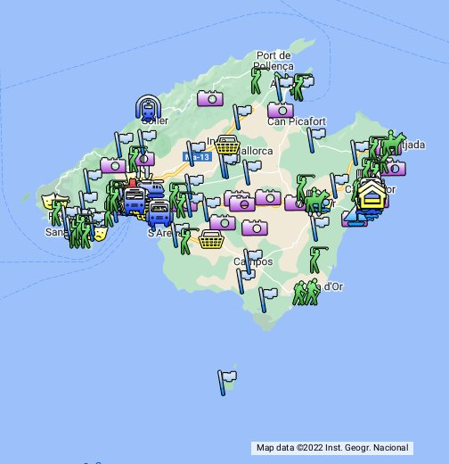 Cala Millor/Mallorca Übersichtsplan/Stadtplan – Google My Maps on
