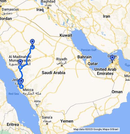 Driving Directions Mecca Medina Ha Il Saudi Arabia