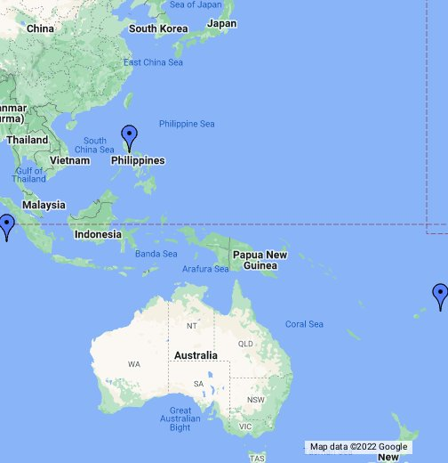 Australia Map Google.Top 10 Punto Medio Noticias Indonesia Map Google