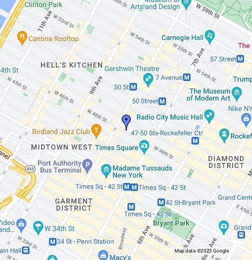 Paramount Hotel New York - Google My Maps