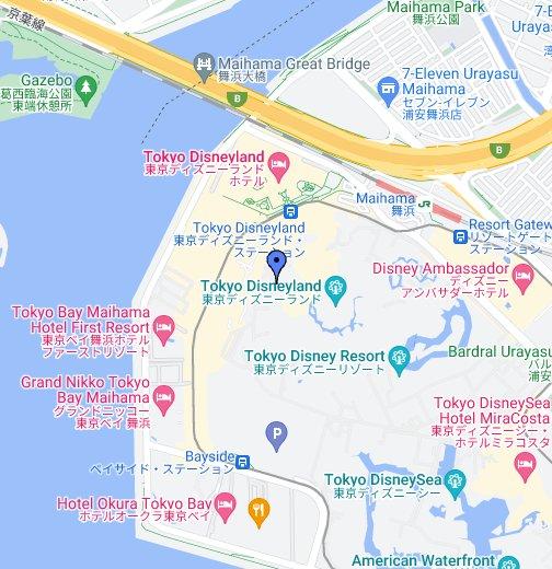 Tokyo Disneyland - Google My Maps on