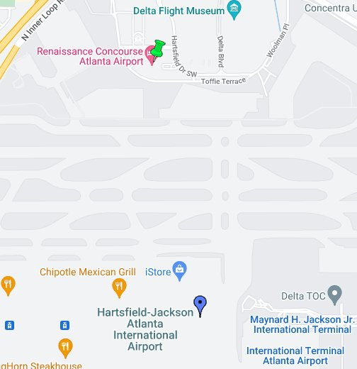 Hartsfield Jackson Map Hartsfield Jackson Atlanta International Airport (ATL)   Google My