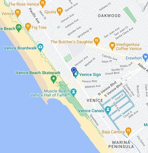 Venice Originals Skateboard Shop - Venice beach boardwalk map