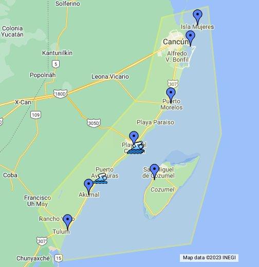 Riviera Maya - Google My Maps