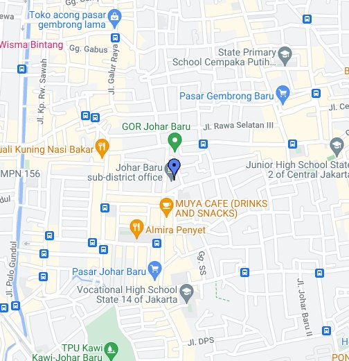 Kantor Kecamatan Johar Baru Jakarta Pusat Google My Maps