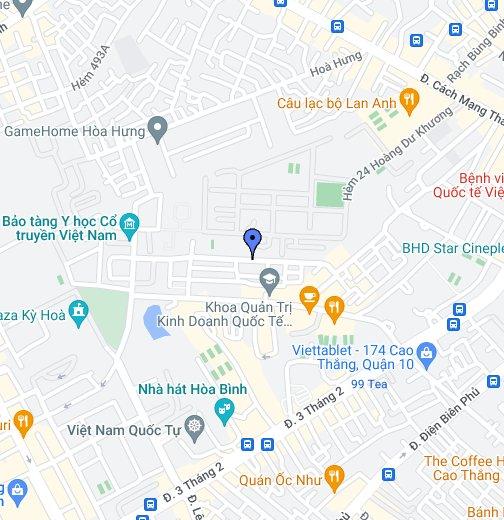 285 CÁCH MẠNG THÁNG 8, phường 12, Quận 10, Hồ Chí Minh, Việt Nam - Google  My Maps