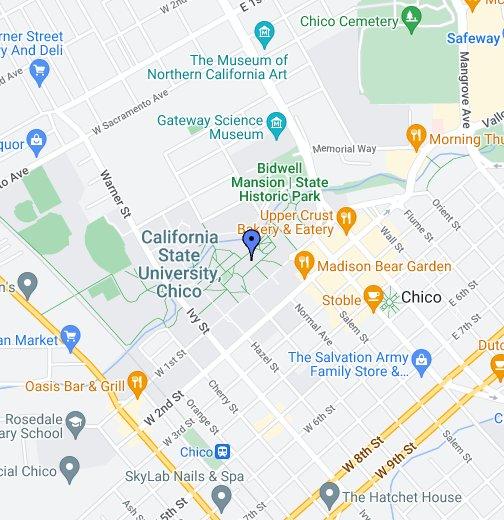 California State University, Chico - Google My Maps