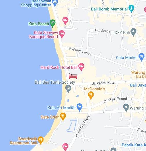Foroffice Hard Rock Hotel Bali Map