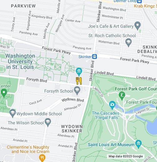 Wustl Danforth Campus Dining Google My Maps