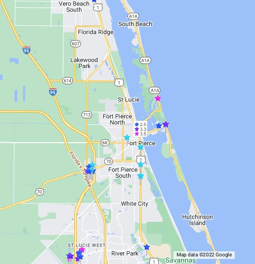 Fort Pierce Florida Map Fort Pierce FL Hotels Map   Cheap Rates, Hotel Reviews, Discount