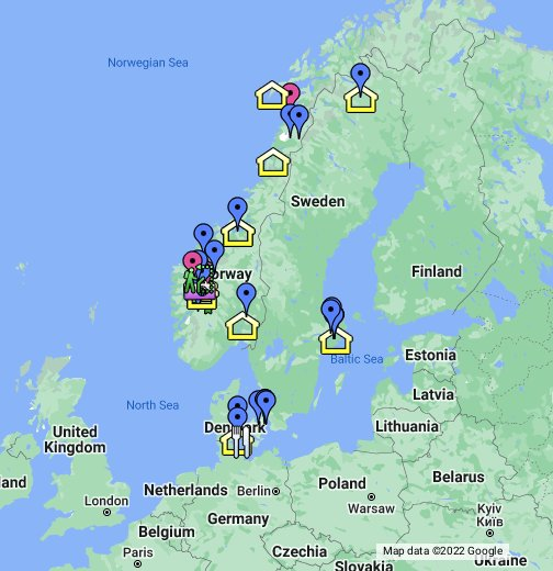 Norway Sweden Denmark Days - Sweden map google