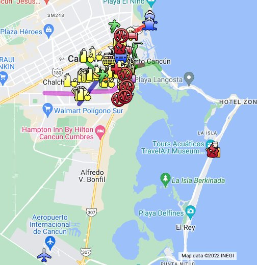 Cancun Map - Google My Maps on