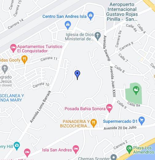 Isla De San Andres Colombia Google My Maps