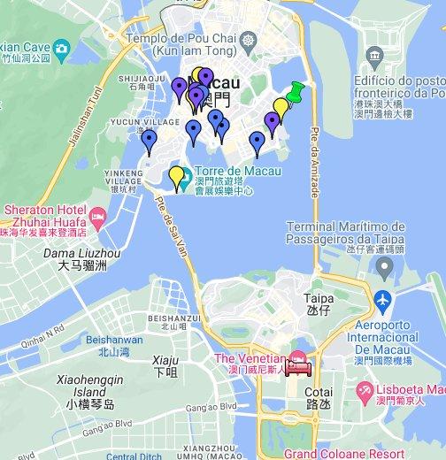 Map Of Macau Macau tourist attractions map   Google My Maps Map Of Macau