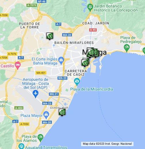 Malaga Hotels - Google My Maps on