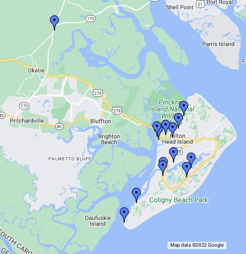 Map Of Hilton Head Hilton Head Island   Google My Maps