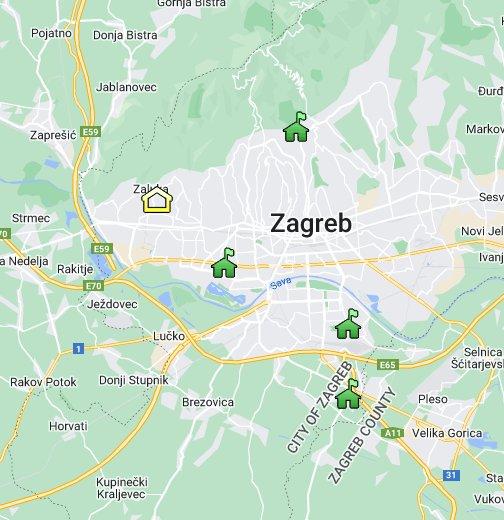 Karta Zagreba Google Moje Karte