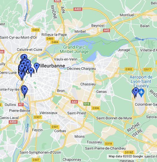 map of lyon airport Fsf Map Of Lyon Google My Maps map of lyon airport