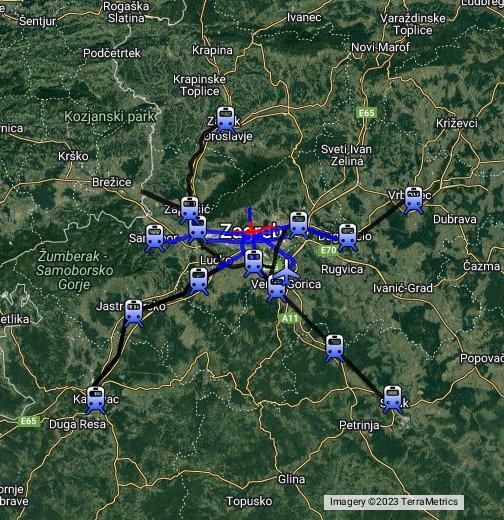 Zg Javni Prijevoz Google My Maps